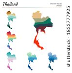 set of vector maps of thailand. ... | Shutterstock .eps vector #1822777925