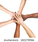 multi ethnic group of people... | Shutterstock . vector #182278586