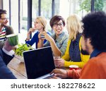 casual people meeting at... | Shutterstock . vector #182278622