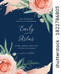 wedding invite  invitation card ... | Shutterstock .eps vector #1822786805