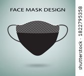 face mask design with lace.... | Shutterstock .eps vector #1822795358