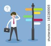 businessman choosing the way | Shutterstock .eps vector #182280005