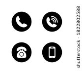 pack of phone icon symbol... | Shutterstock .eps vector #1822802588