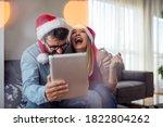 Couple Buying Christmas Gifts...