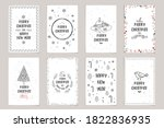 merry christmas set of xmas... | Shutterstock .eps vector #1822836935