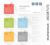 infographic elements   post it... | Shutterstock .eps vector #182287172