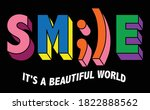 smile word with colorful... | Shutterstock .eps vector #1822888562