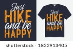 just hike and be happy t shirt... | Shutterstock .eps vector #1822913405