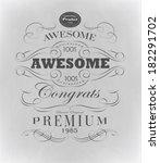 calligraphic design elements | Shutterstock .eps vector #182291702