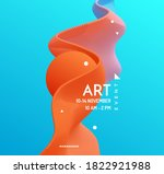 art event invitation template.... | Shutterstock .eps vector #1822921988