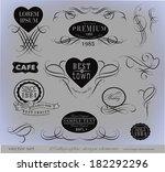 calligraphic design elements | Shutterstock .eps vector #182292296