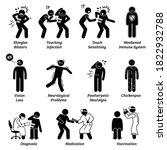 shingles disease symptoms and... | Shutterstock .eps vector #1822932788