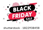 black friday sale banner. gift... | Shutterstock .eps vector #1822938458