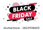 black friday sale banner. gift... | Shutterstock .eps vector #1822938605