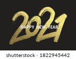 2021 new year cart. 2021 new... | Shutterstock .eps vector #1822945442