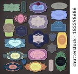set retro vintage ribbons and... | Shutterstock .eps vector #182298686