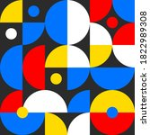 retro pattern in style of 60s ... | Shutterstock .eps vector #1822989308