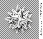 Vector Silver Realistic Bow...