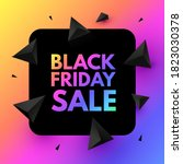 black friday sale poster...   Shutterstock .eps vector #1823030378