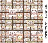seamless texture with funny... | Shutterstock .eps vector #182304986