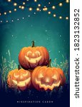 poster with festive decorative... | Shutterstock .eps vector #1823132852