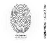 fingerprint line design vector... | Shutterstock .eps vector #182315702
