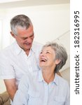 retired couple embracing and... | Shutterstock . vector #182316995