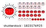 timer pomodoro. pomodoro time...   Shutterstock .eps vector #1823176925
