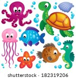 various marine animals set 1  ...