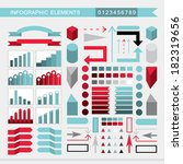 infographic elements  charts ... | Shutterstock .eps vector #182319656