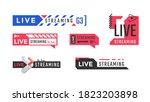 live streaming vector logo or... | Shutterstock .eps vector #1823203898