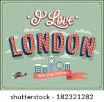 vintage greeting card from... | Shutterstock .eps vector #182321282