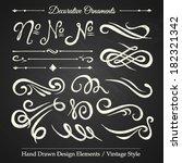 decorative ornaments   hand... | Shutterstock .eps vector #182321342