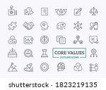 vector core values icon set... | Shutterstock .eps vector #1823219135