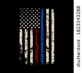 red and blue line flag vector t ... | Shutterstock .eps vector #1823243288
