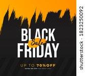 black friday brush sale banner... | Shutterstock .eps vector #1823250092