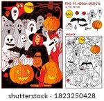 halloween puzzle hidden items...   Shutterstock .eps vector #1823250428