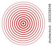 circle target epicenter... | Shutterstock .eps vector #1823258348