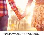 young couple in love walking in ... | Shutterstock . vector #182328002