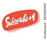 subscribe red button for social ... | Shutterstock .eps vector #1823300405
