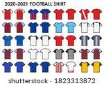icon set of soccer kit or... | Shutterstock .eps vector #1823313872