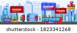 city advertising vector... | Shutterstock .eps vector #1823341268