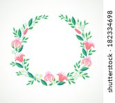vector illustration of a wreath ... | Shutterstock .eps vector #182334698