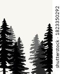 landscape with fir trees.... | Shutterstock .eps vector #1823350292