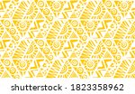 monochrome yellow sunny summer... | Shutterstock .eps vector #1823358962