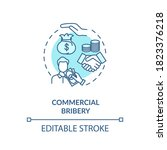 commercial bribery concept icon.... | Shutterstock .eps vector #1823376218