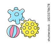 sensory balls rgb color icon....   Shutterstock .eps vector #1823378678