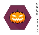 halloween pumpkin  scary or... | Shutterstock .eps vector #1823394095