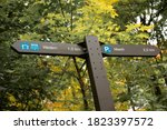 Gatineau Park Trail Sign In Th...