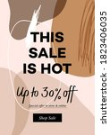 modern sale web banner for... | Shutterstock .eps vector #1823406035